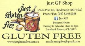 Just Gluten Free card